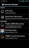Screenshot of Recovery Manager (No Support)