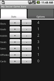 Youth Soccer Stats Tracker - screenshot