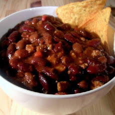 Pork, Beef, and Black Bean Chili