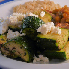 Sauteed Zucchini With Oregano and Feta  (Ww 1 Point)