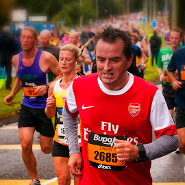 Great North Run #15 by Robert Wake - Sports & Fitness Running ( people, crowd, humanity, society )