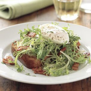 Frisée Salad with Lardons and Brioche