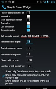 Simple Dialer Widget Screenshot