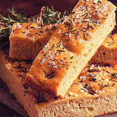 Cracked Pepper Focaccia with Truffle Oil