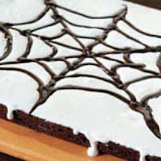 Halloween Brownie Pizza