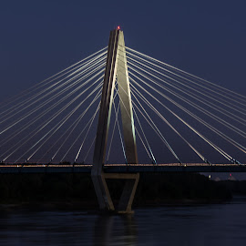 Kit Bond Bridge, Kansas CIty by Scott Fishman - Buildings & Architecture Bridges & Suspended Structures ( kit bond bridge, digital dimensions, kansas city, night )