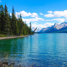 Jasper National Park by Carla Chidiac - Landscapes Travel ( mountains, alberta, rocky mountains, blue water, lake, rockies, travel, landscape, jasper national park, canda )