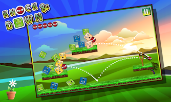 Screenshot of Knock Down - Slingshot