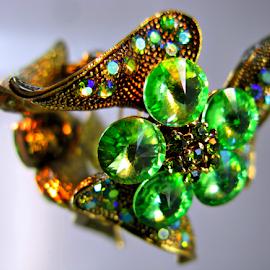 Green stones by Daliana Pacuraru - Artistic Objects Jewelry ( daliana pacuraru, green, jewelry, gold, stones )