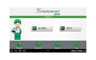 Screenshot of Grammar App by TapToLearn