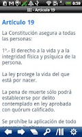 Screenshot of Chile Constitution