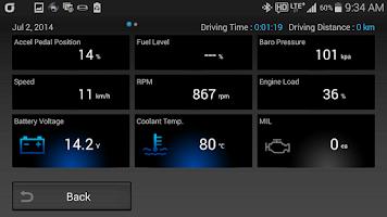 Screenshot of CaroO Free (Blackbox & OBD)