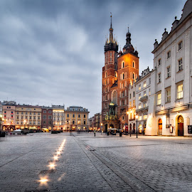 St. Mary's Basilica | Kościół Mariacki, Kraków by Michael Wiejowski - City,  Street & Park  Historic Districts ( europe, church, travel, main market square, basilica, kraków, poland )