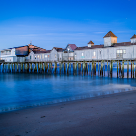 Old Orchard Beach - The Blue Hour by Tom Whitney - Landscapes Waterscapes