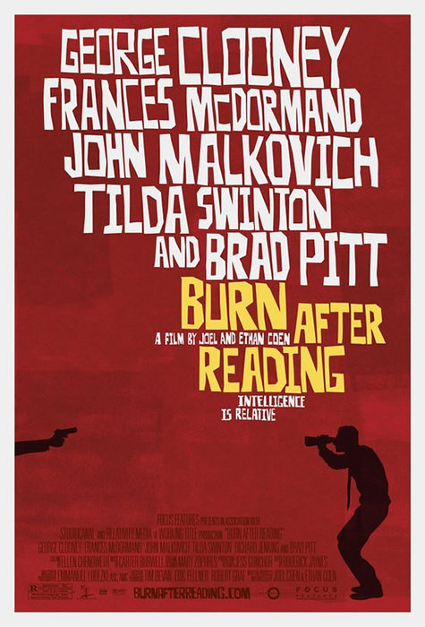 Burn after reading - theatrical poster