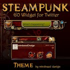 Steampunk Twitter GO Widget icon
