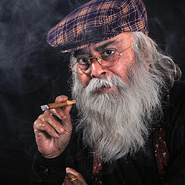 Man with Cigar by Rakesh Syal - People Portraits of Men (  )