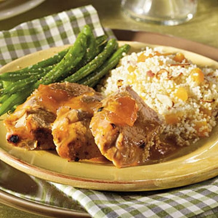 Apricot-Glazed Pork Tenderloin with Couscous Recipe | Yummly