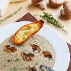 Creamy Roasted Mushroom and Brie Soup