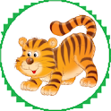 Tigers in cage icon