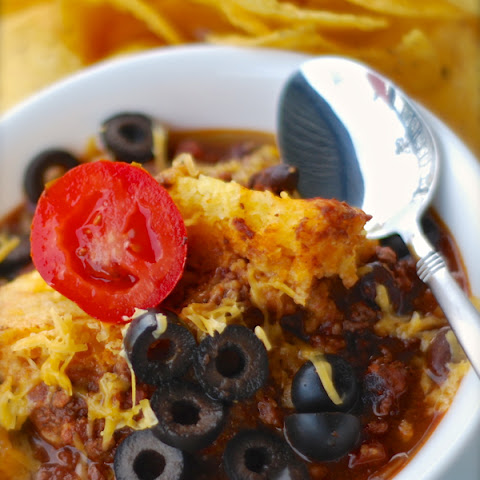 Crock Pot Chili & Cheesy Cornbread