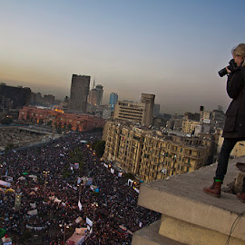 Photographer Challenge  by Sameh Tomoum - News & Events World Events ( el midan, danger, cairo, livin on d egde, photographer, tahrir square, dangerous, egypt )