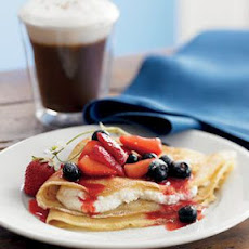 Crepes with Berries and Ricotta