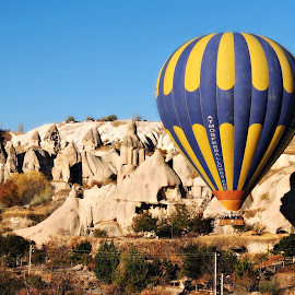 Hot-air Balloon 3 by Tamsin Carlisle - Transportation Other ( erosion, fairy, rock, valley, balloon, flight, fly, formations, hot, air, turkey, chimney, cappadocia,  )