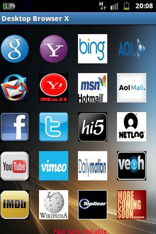 Desktop Browser X