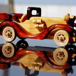 Toy Car by Krish Radhakrishnan - Artistic Objects Toys ( craft, wood, toy, toy car, art, reflections, krish,  )