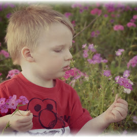 In the moment by Kristen Dustin - Babies & Children Toddlers ( fun, toddler, flowers, pretty, outside )