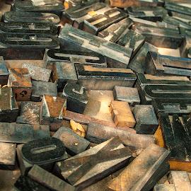 Letters by Matt Weaver - Artistic Objects Antiques ( wood, letter, o, m, blocks, sunlight, x )