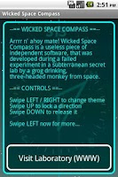 Screenshot of Wicked Space Compass