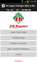 Screenshot of JK Sugars