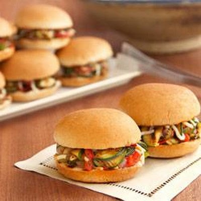 Grilled Veggie Sliders