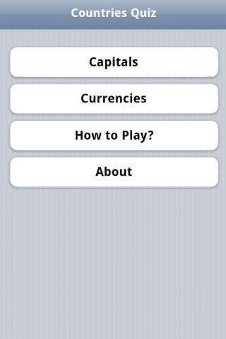 Capitals Currencies