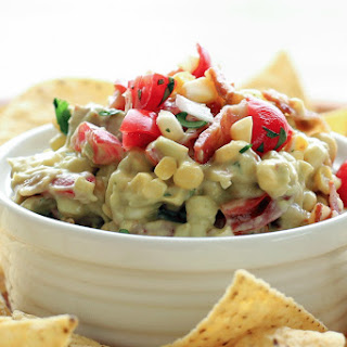 Fresh Corn Dip with Bacon, Avocado and Tomatoes