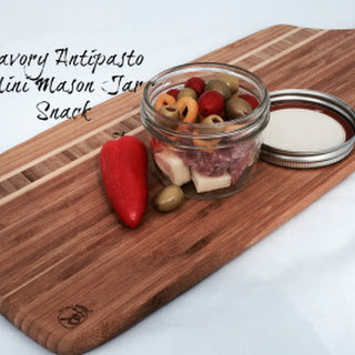 Savory Antipasto Mini Mason Jar Snacks