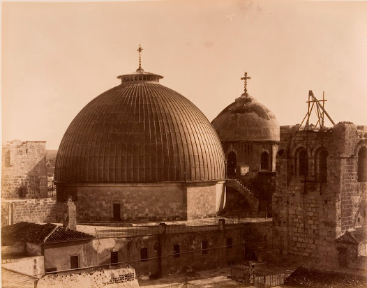 Picture of the dome of the Holy Sepulchre