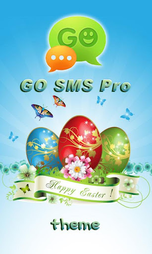 GO SMS Pro Happy Easter theme