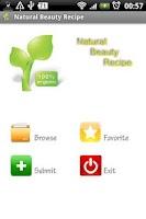 Screenshot of Natural Beauty Recipe
