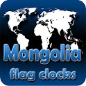 Mongolia flag clocks icon