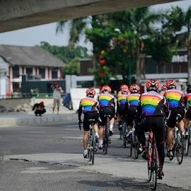 we not racing just fun by Milan Holic - Sports & Fitness Cycling ( cycling, street, sport )