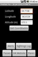 Screenshot of PrediSat Pro