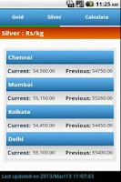 Screenshot of Gold Price India Live