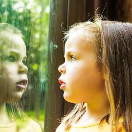 Reflection by Carol Plummer - Babies & Children Children Candids ( child, reflection, family, people, portrait,  )