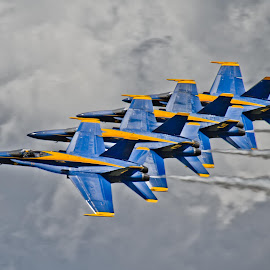 Blue Angels by David Sweeter - Transportation Airplanes