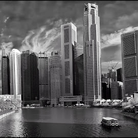 Boat Quay Singapore by Surya  Iskandar - City,  Street & Park  Skylines ( boat quay, singapore, river, asian )