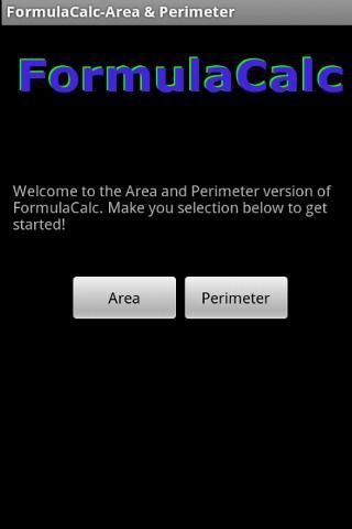 FormulaCalc-Area and Perimeter