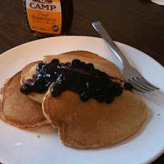 Whole Wheat Pancakes With Blueberry Compote